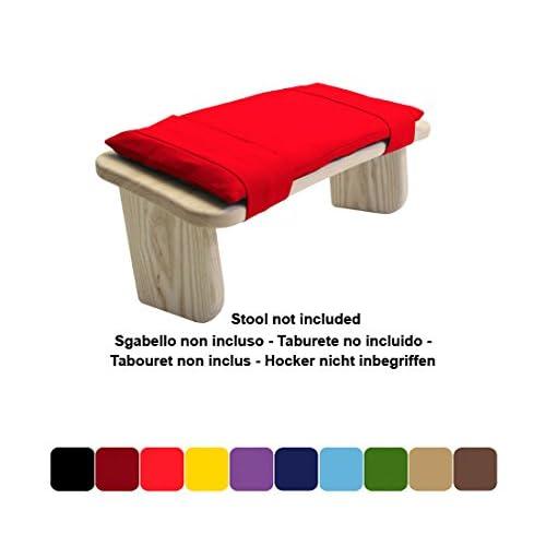 Coussin pour s'adapter le tabourets de méditation Blue Banyan Tulipwood (tabouret à pieds fixes Tulipwood ou tabouret pliant Tulipwood)