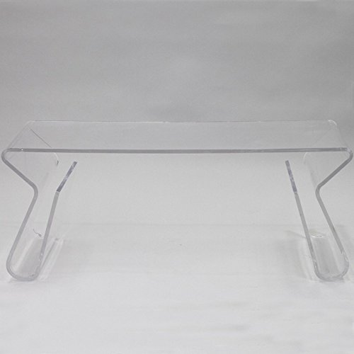 Clear Acrylic Coffee Table Light Weight Portable With Ebook by MRTEA