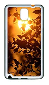 crazy case sunset tree twigs TPU White case/cover for samsung galaxy note 3 N9000
