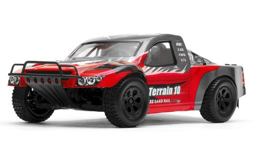 Exceed Racing Terrain 1/10 Scale Short Course Truck Ready to Run 2.4ghz (AA Red) (Best Rc Car For Snow)