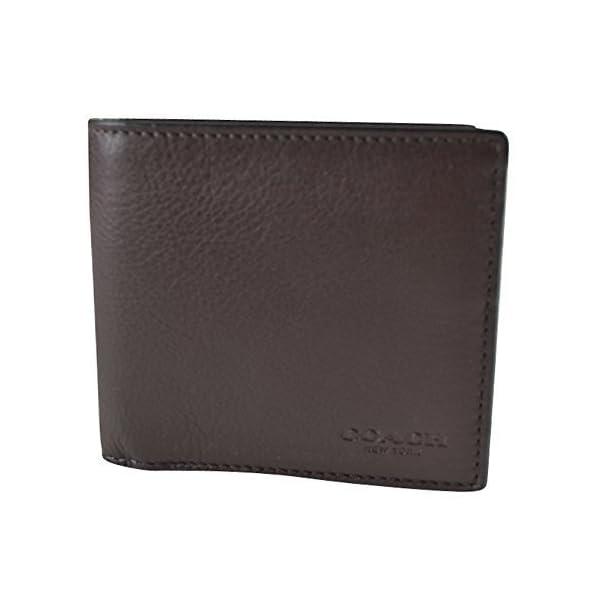 Coach-Mens-Double-Billfold-Sport-Calf-Wallet-75084-Mahogany