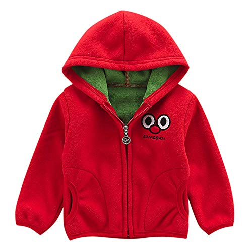 leeve Hoodie Fleece Coat Jacket Outwear Clothes Cartoon (Red-3 Years(110)) ()