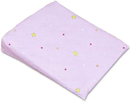 PILLOWCASE REPLACEMENT COVER MANY DESIGNS SIZE 59x37cm BABY COT WEDGE PILLOW Blue