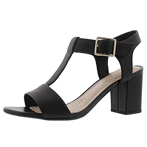 b32bc06ff682a Clarks Women s Smart Deva T-Strap Dress Sandal Black 6.5 M US - Buy Online  in Oman.