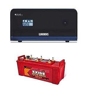 luminous +exide Zelio 1100 + Exide 150AH Battery Great Premium Combo (Red)