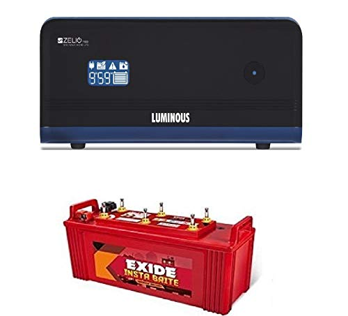 luminous +exide Zelio 1100 + Exide 150AH Battery Great Premium Combo 2021 June Zelio, Home UPS provides grid like supply in case of power failure. Packed with various advanced features, the Zelio range is the ideal choice for a reliable power back- up solution within the urban space. Home About Exide Products Know your Battery Online Store Network Contact us Login Exide Care Home / Products / Inverter Batteries / Exide Instabrite Exide Instabrite Features of Exide Instabrite Range of Batteries Presenting Exide Instabrite. The latest offering from Exide that promises superior power backup at a fantastic price. With Exide Instabrite, you can be sure that there will be no shortage of power in your home. Get instant brightness with the best Unique features and superior technology: Advanced Hybrid Technology that is best suited to withstand high temperatures as well as thick plate construction with special paste formulation. Special hybrid alloy system leading to low water loss and dual plate separation(PE+GM) that reduces the possibility of premature failure