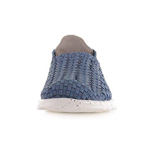 HEY DUDE Glissement jeans hommes à dessus en tissu Chaussures