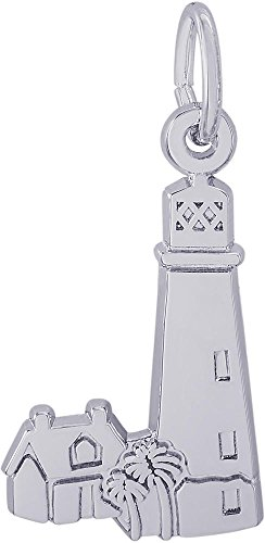 Rembrandt Cape Florida Lighthouse Charm   Metal   Sterling Silver
