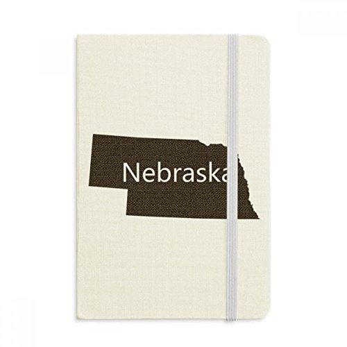 Nebraska America USA Map Silhouette Notebook Fabric Hard Cover Classic Journal Diary A5