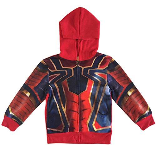 Spider-Man Boys Zip Up Costume Hoodie (S (6/7)) Blue/Red ()