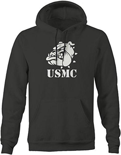 Usmc Bulldog Sweatshirt - USMC Semper Fi Bulldog Military One Shot One Kill Sweatshirt - 2XL