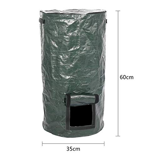 Yard Waste Bags Organic Waste Kitchen Fruit Compost Bag Garden Plant Grow Bag Vegetable Flower Pot Potato Plant Eco-Friendly Grow Bag