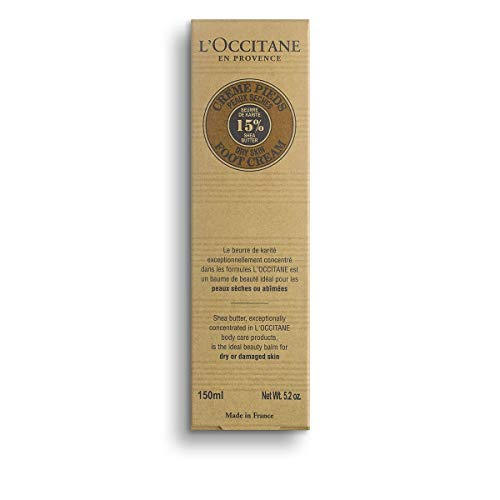 L Occitane 15 Shea Butter Foot Cream Enriched with Lavender Arnica, 5.2 oz.
