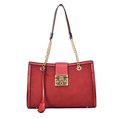 bolsos de Carteras hombro y y Mujer bandolera Burdeos mano Bolsos de Shoppers clutches wOqSE1