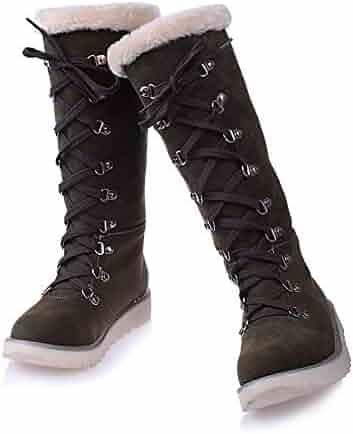 dcbdd7b99bc JingZhou 2018 Large Size 34-43 Beige Women Shoes Woman Snow Boots Casual  Comfortable Warm