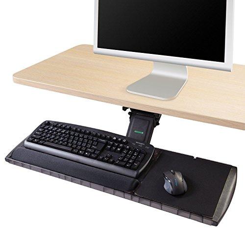 Kensington 60718 Adjustable Keyboard Platform with SmartFit System, 21-1/4w x 10d, Black (Renewed)