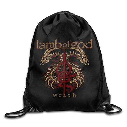 Guiping Lamb of God Unisex Drawstring Gym Sack Sport Bag