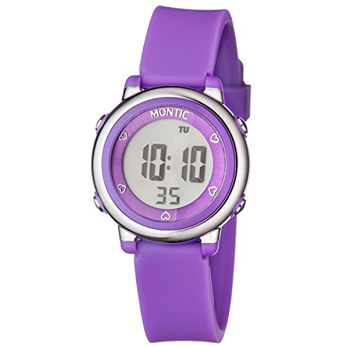 Montic Kids Purple Digital Sports Multi Function Watch with Alarm and Stopwatch Functions