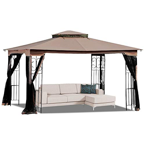 MASTERCANOPY 10' x 12' Gazebo Replacement Canopy Roof for Model GZ798PST-E(Only Top) (Covers Gazebo 10x12)