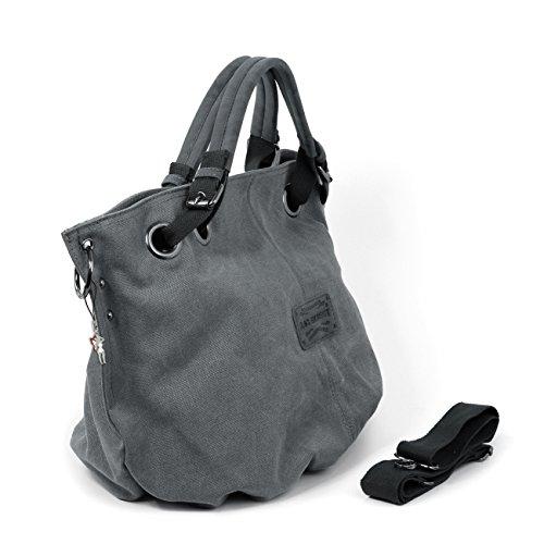 Shoulder Bag Pouch Bag Tote Ladies 4530 Street Of Canvas Grey Bag wBXHpw