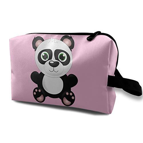 Panda Travelling Makeup Bags Cosmetic Bag Zipper