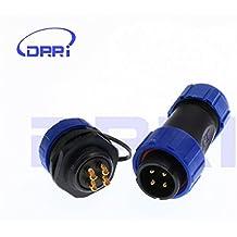 DRRI SP21 4Pin Waterproof IP68 Panel Mount Circular Aviation Cable Connector