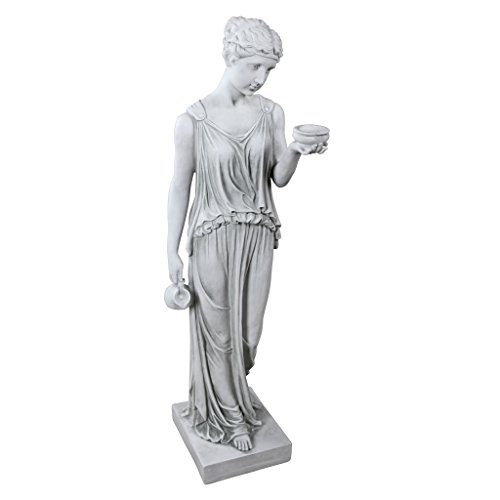 (Design Toscano KY71304 Hebe The Goddess of Youth Greek Garden Statue, Large, Antique)