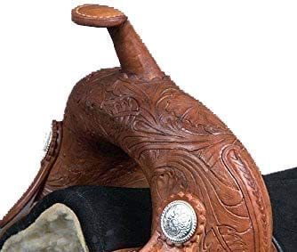 Enterprises Deen Youth Child Western Trail Barrel Racing Premium Leather TREELESS Pony Miniature Horse Saddle Tack Size 10 to 12 inch Seat Available