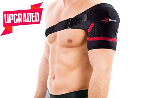 Support Shoulder Brace for Women and Men | 3-Size Shoulder Immobilizer Compression Sleeve to Protect Rotator Cuff + AC Joints | Prevent Injuries & Relieve Sprain Pain and Soreness Size M by Flex-Health (Image #9)