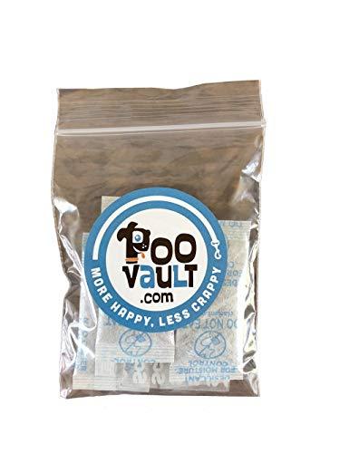 PooVault Odor Absorbent Packets aka Activated Carbon Desiccant Getter Pak