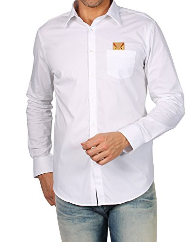 FENDI - Men's Shirt HITA POPELINE (FS0655 96T) - white, 40 (cm - 15 3/4 inches - - Men Fendi