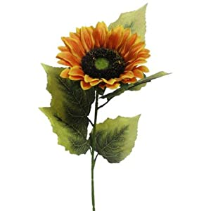 "Lily Garden 24"" Silk Sunflowers Artificial Flowers Decor 14"