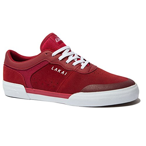 Lakai Staple Skate Shoes - Lakai Skateboard Shoes Staple Red Suede Size 8.5