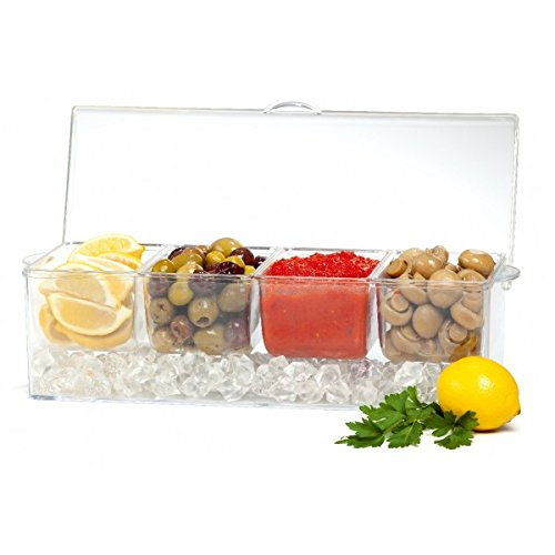 Brilliant - Patio acrylic Chilling 4 Section Dish on Ice Tray (Sectional Tray)