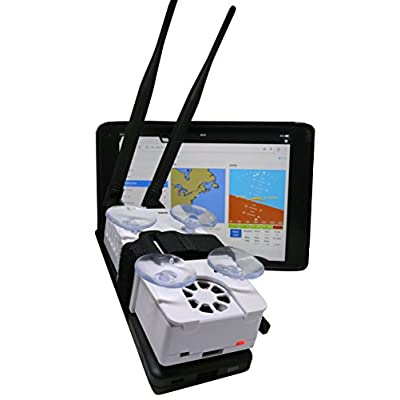 Stratux ADS-B Dual Band Receiver Aviation Weather and Traffic - External WAAS GPS, AHRS, Battery Pack, Suction Mount, Internal WAAS GPS, Antennas, SDR, Case with Fan for ForeFlight, iFly, FlyQ, WingX: GPS & Navigation