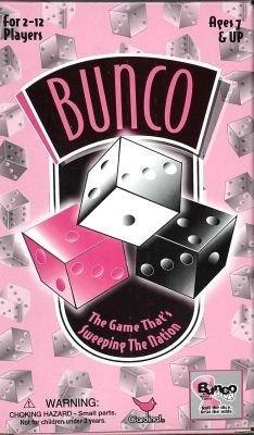 Game Bunco Dice - CARDINAL INDUSTRIES, Bunco Social Dice Game Complete Set,pink & black