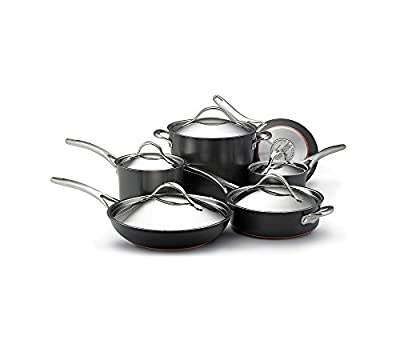 Anolon Nouvelle Copper 11-pc. Grey Hard-Anodized Nonstick Cookware Set + FREE GIFT see offer details