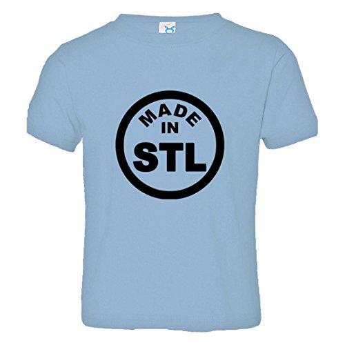 Toddler Born Made in ST Louis MO Missouri Logo Label HQ Tee-LtBl-3 Light Blue