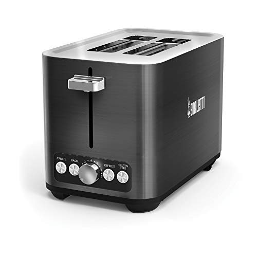 Bialetti 35046 2-Slice Toaster, Black Stainless Steel