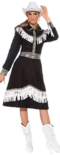 [Forum Novelties Women's Rodeo Queen Costume, Black/White, Standard] (Womens Western Costumes)