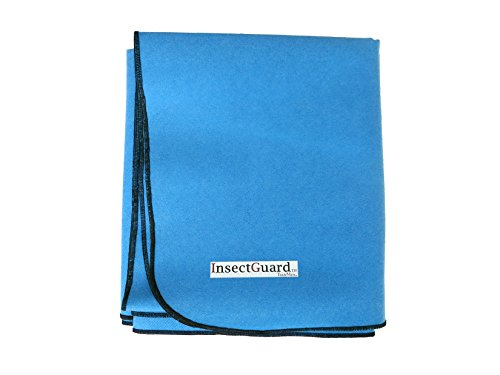 Thunder Bug (InsectGuard Permethrin Insect Repellent Treated 80 Inch Long by 60 Inch Wide Blanket/Cover (Blue))