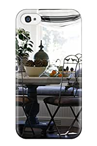 Top Quality Rugged Window Bay Becomes Charming Breakfast Nook Case Cover For Iphone 4/4s