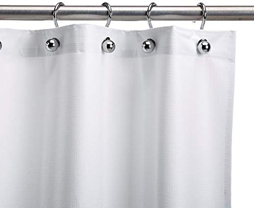 CSI Bathware CUR42x74NH Heavy-Duty Commercial Shower Curtain Antistatic Staph Resistant Mold and Odor Resistant, 42