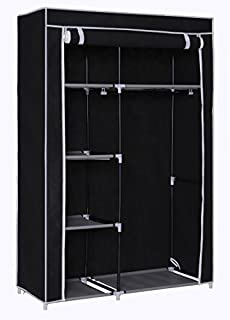 Homebi Clothes Closet Portable Wardrobe Durable Clothes Storage Non-Woven Fabric Wardrobe Storage Organizer with  sc 1 st  Amazon.com & Amazon.com: Pop-up Wardrobe Instant Closet - Protects Your Clothes ...