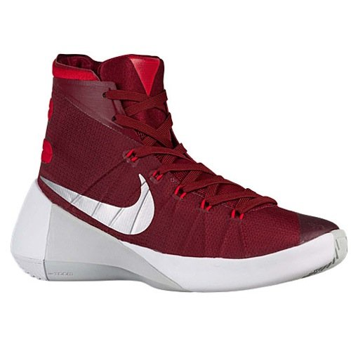 low priced 49df5 84355 Galleon - Nike Mens Hyperdunk 2015 TB Basketball Shoe (TEAM RED UNIVERSITY  RED WHITE METALLIC SILVER, 11 D(M) US)