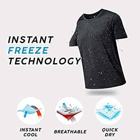 Ohwens Men Ice Silk Quick Dry T-Shirt Short Sleeve V Neck Solid Color Seamless Breathable Top,Men Quick Dry Shirt,Sports Tops for Men
