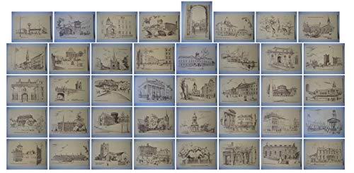 Gladys Leach Set of 40 Vintage Postcard Scenes of Dublin Ireland