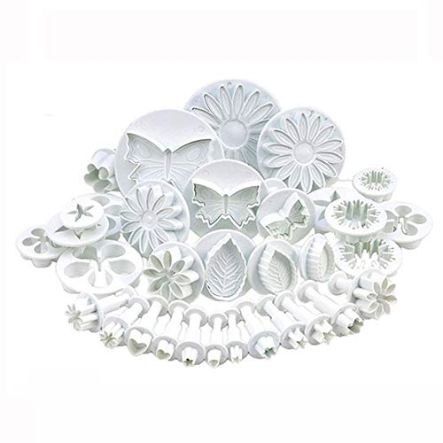 1 piece 11/46/33 Pcs Spring-embossed printing tool set with sugar cake and biscuit mould is made of food grade plastic
