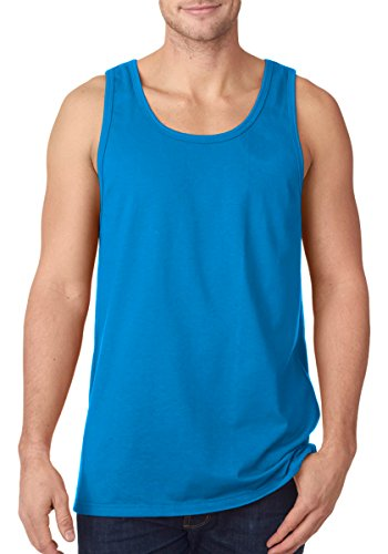 Tank Logo Blue - Fruit of the Loom Adult 5 oz. HD CottonÖ Tank-Pacific Blue-L