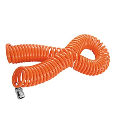 uxcell Carriable Orange Red 8mm x 5mm 15M Air Brake PU Coil Hose Tube